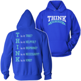Teacher - THINK - Hoodie / Royal Blue / S - 11
