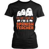 Spanish - Halloween Ghost - District Made Womens Shirt / Black / S - 1