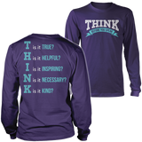 Teacher - THINK - District Long Sleeve / Purple / S - 4