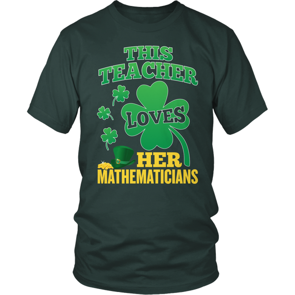 Math - St. Patrick's Mathematicians - District Unisex Shirt / Dark Green / S - 1
