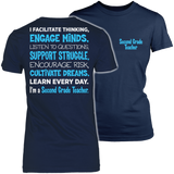 Second Grade - Engage Minds - District Made Womens Shirt / Navy / S - 1