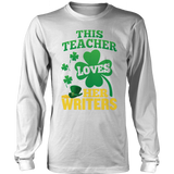 English - St. Patrick's Writers - District Long Sleeve / White / S - 9