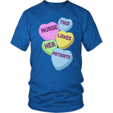 Nurse - Candy Hearts - District Unisex Shirt / Royal Blue / S - 7