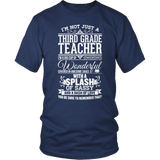 Third Grade - Big Cup - District Unisex Shirt / Navy / S - 5
