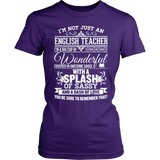 English - Big Cup - District Made Womens Shirt / Purple / S - 3