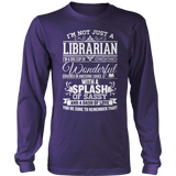 Librarian - Big Cup - District Long Sleeve / Purple / S - 11