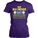 School Bus Driver - Eggcellent - District Made Womens Shirt / Purple / S - 2