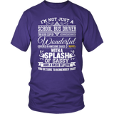 School Bus Driver - Big Cup - District Unisex Shirt / Purple / S - 7