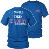 Theater - Single. Taken. - District Unisex Shirt / Royal Blue / S - 8
