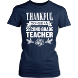 Second Grade - Thankful - District Made Womens Shirt / Navy / S - 5