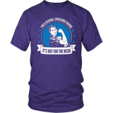 Crossing Guard - Not For The Weak - District Unisex Shirt / Purple / S - 3