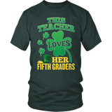 Fifth Grade - St. Patrick's Fifth Graders - District Unisex Shirt / Dark Green / S - 1