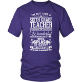 Sixth Grade - Big Cup - District Unisex Shirt / Purple / S - 7