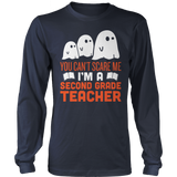 Second Grade - Ghosts - District Long Sleeve / Navy / S - 8
