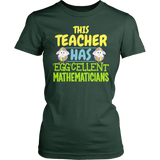 Math - Eggcellent - District Made Womens Shirt / Forest Green / S - 3