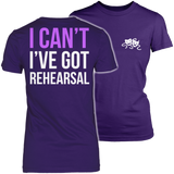 Theater - I Cant - District Made Womens Shirt / Purple / S - 3