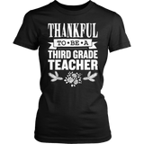 Third Grade - Thankful - District Made Womens Shirt / Black / S - 6