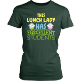 Lunch Lady - Eggcellent - District Made Womens Shirt / Forest Green / S - 3