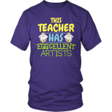 Art - Eggcellent - District Unisex Shirt / Purple / S - 6