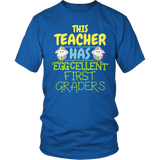 First Grade - Eggcellent - District Unisex Shirt / Royal Blue / S - 5