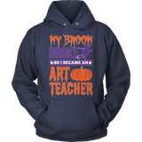 Art - My Broom Broke - Hoodie / Navy / S - 11