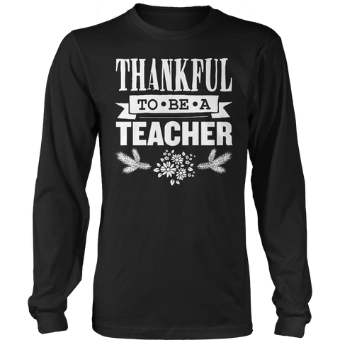 Teacher - Thankful - District Long Sleeve / Black / S - 1