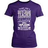 Sixth Grade - Big Cup - District Made Womens Shirt / Purple / S - 3