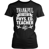 Phys Ed - Thankful - District Made Womens Shirt / Black / S - 6