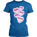 Theater - Candy Hearts - District Made Womens Shirt / Royal / S - 4