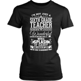 Sixth Grade - Big Cup - District Made Womens Shirt / Black / S - 2