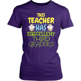 Third Grade - Eggcellent - District Made Womens Shirt / Purple / S - 2
