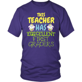 First Grade - Eggcellent - District Unisex Shirt / Purple / S - 6