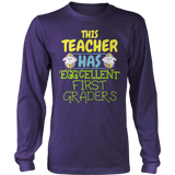 First Grade - Eggcellent - District Long Sleeve / Purple / S - 10