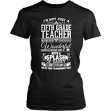 Fifth Grade - Big Cup - District Made Womens Shirt / Black / S - 2