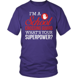 Crossing Guard - Superpower - District Unisex Shirt / Purple / S - 3