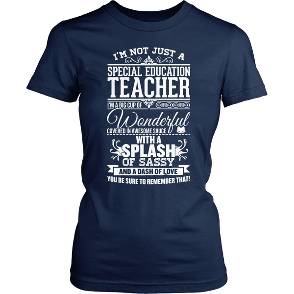 Special Education - Big Cup - District Made Womens Shirt / Navy / S - 1