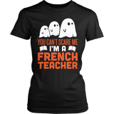 French - Halloween Ghost - District Made Womens Shirt / Black / S - 1