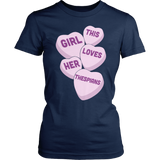 Theater - Candy Hearts - District Made Womens Shirt / Navy / S - 2
