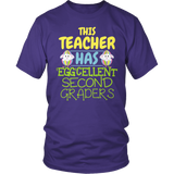 Second Grade - Eggcellent - District Unisex Shirt / Purple / S - 6