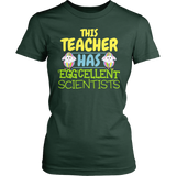 Science - Eggcellent - District Made Womens Shirt / Forest Green / S - 3