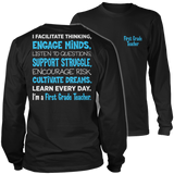 First Grade - Engage Minds - District Long Sleeve / Black / S - 9