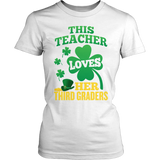 Third Grade - St. Patrick's Third Graders - District Made Womens Shirt / White / S - 6