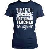 First Grade - Thankful - District Made Womens Shirt / Navy / S - 5