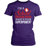 Crossing Guard - Superpower - District Made Womens Shirt / Purple / S - 5