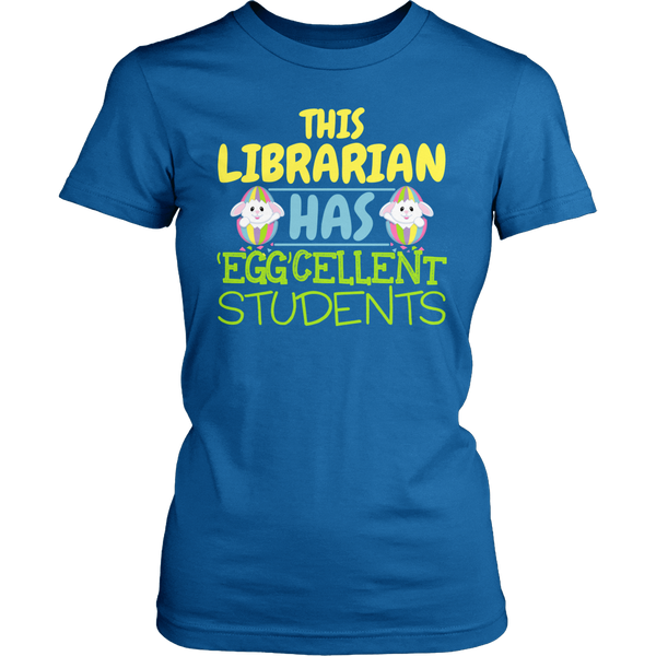 Librarian - Eggcellent - District Made Womens Shirt / Royal / S - 1
