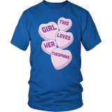 Theater - Candy Hearts - District Unisex Shirt / Royal Blue / S - 8