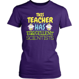 Science - Eggcellent - District Made Womens Shirt / Purple / S - 2