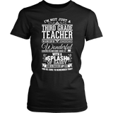 Third Grade - Big Cup - District Made Womens Shirt / Black / S - 2