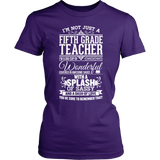Fifth Grade - Big Cup - District Made Womens Shirt / Purple / S - 3
