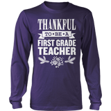 First Grade - Thankful - District Long Sleeve / Purple / S - 3